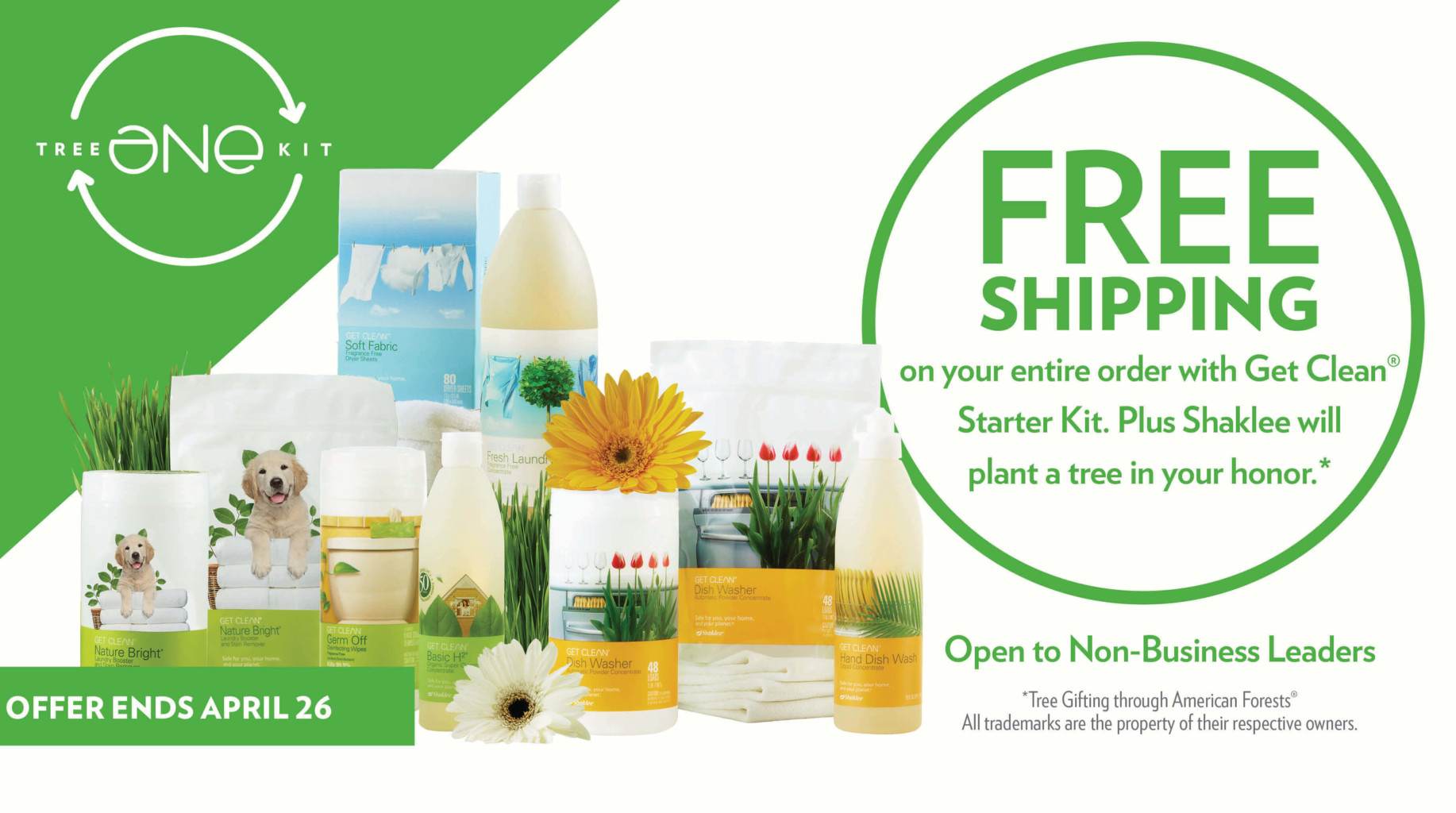Free Shipping with the Purchase of a Get Clean Starter Kit