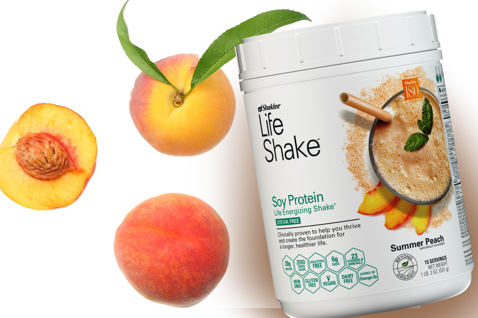 Available Now! New-and-Improved Summer Peach Life Shake™
